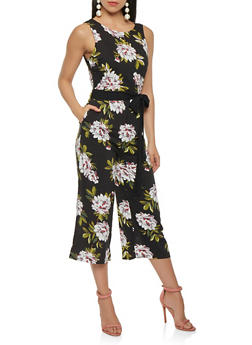 Printed Open Back Jumpsuit - 0045051061120
