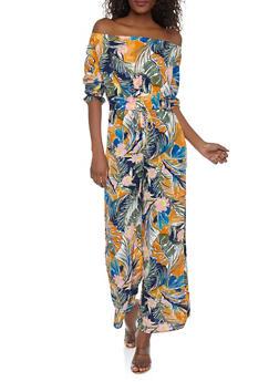 Floral Off the Shoulder Jumpsuit - 0045051061167