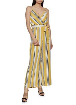 Multi Color Stripe Palazzo Jumpsuit - 0045051062347