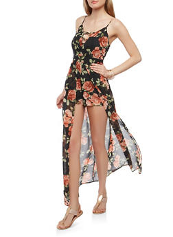 Floral Caged Maxi Romper - 0045051063092