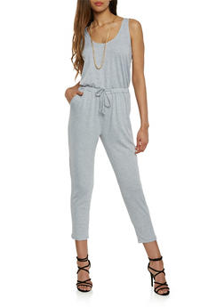 Solid Sleeveless Jumpsuit - 0045054260450