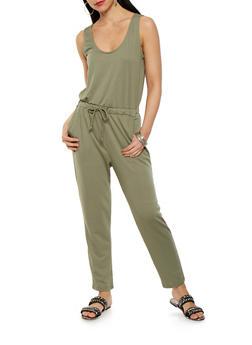 Solid Sleeveless Jumpsuit - 0045054260450