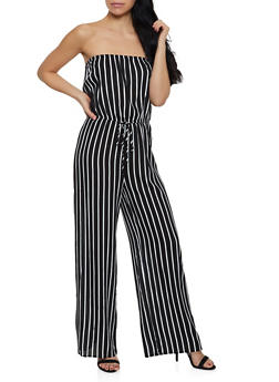 Strapless Cinched Waist Jumpsuit - 0045054260850