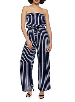 Strapless Cinched Waist Jumpsuit - 0045054260850