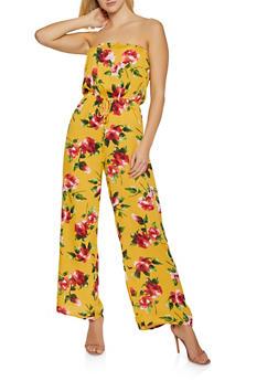 Floral Tube Jumpsuit | 0045054261850 - 0045054261850