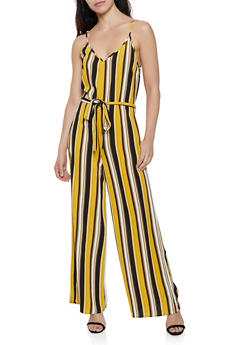 Striped Cami Palazzo Jumpsuit - 0045054261975