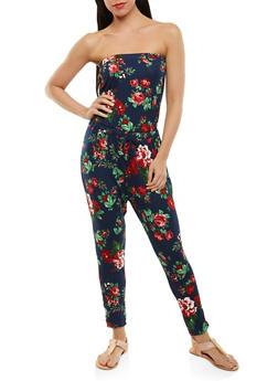 Floral Strapless Jumpsuit - 0045054265620