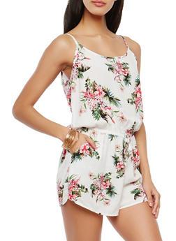 Floral Print Romper - 0045054265782