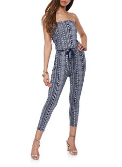 Printed Strapless Jumpsuit - 0045054266620