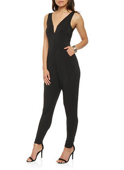 Solid Sleeveless Jumpsuit - 0045054267811