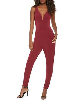 Solid Sleeveless Jumpsuit - 0045054267811