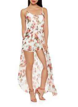 Floral Maxi Romper - 0045054267829