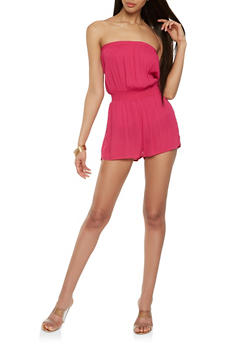 Strapless Solid Romper - 0045054268993