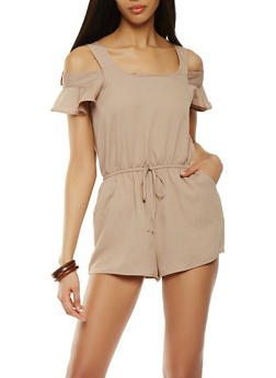Cold Shoulder Romper - 0045058753004
