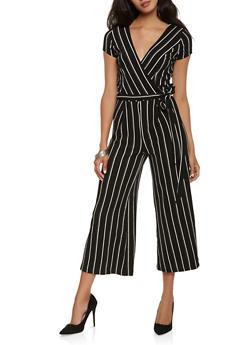 Striped Wide Leg Jumpsuit - 0045060583125
