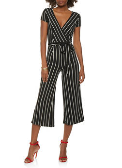 Striped Wide Leg Jumpsuit - 0045060583125