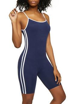 0b8e2c894d7 Varsity Stripe Soft Knit Romper - 0045061630276