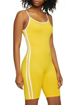 Varsity Stripe Soft Knit Romper - 0045061630276