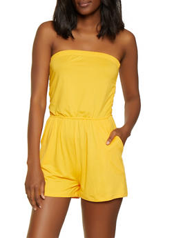 Solid Tube Romper - 0045061632830