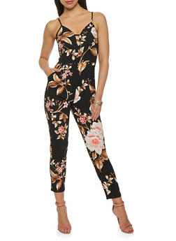 Floral Caged Neck Jumpsuit - 0045069395002