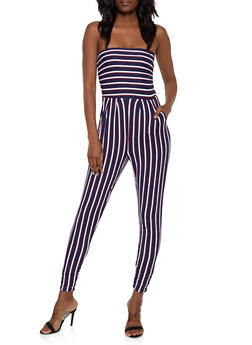 Striped Tube Jumpsuit | 0045073371906 - 0045073371906