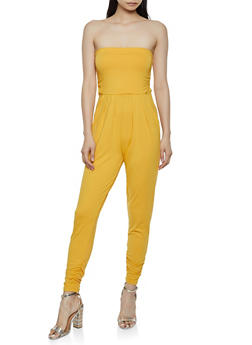 Soft Knit Ruched Tube Jumpsuit - 0045073372404
