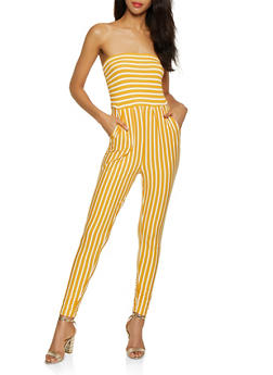 Ruched Tube Jumpsuit - 0045073372702