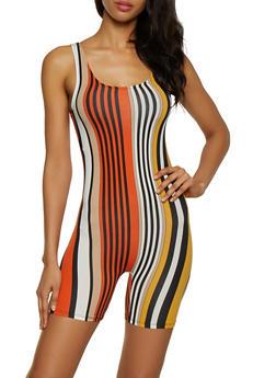 Vertical Stripe Romper - 0045073378403