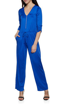 Zip Neck Jumpsuit - 0045074281188