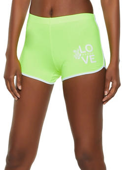Soft Knit Love Graphic Dolphin Shorts - 0056001441453