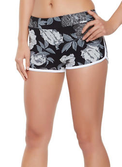 Soft Knit Printed Dolphin Shorts - 0056001443756