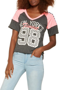 New York Graphic High Low Tee - 0056038346310