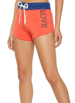 Love Graphic Dolphin Shorts - 0056038348514