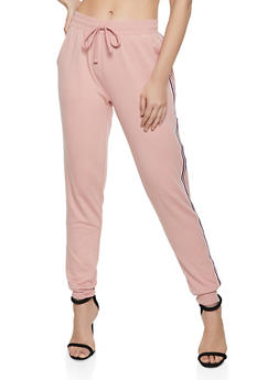 Tape Trim French Terry Lined Joggers - 0056054267101