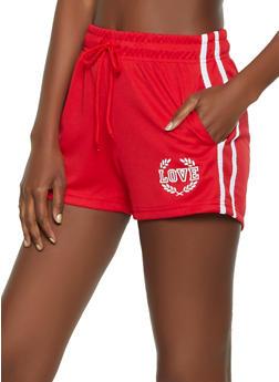 Love Varsity Stripe Track Shorts - 0056072290544