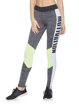 Motivation Graphic Active Leggings - 0058038345651