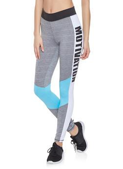 Motivation Graphic Active Leggings - 0058038345651