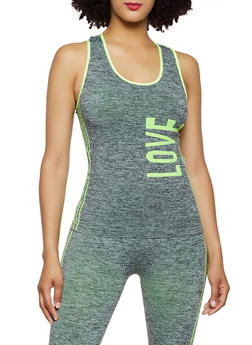 Love Graphic Seamless Active Tank Top - 0058038347840