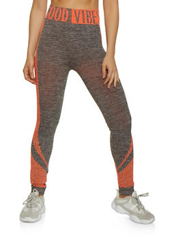 Good Vibes Activewear Leggings - 0058038347901