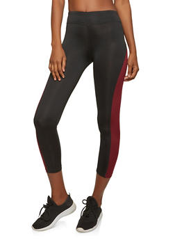 Cropped Color Block Activewear Leggings - 0058054268378