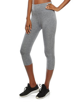Cropped Activewear Leggings with Back Pocket Zipper - 0058054268609