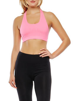 Seamless Racerback Sports Bra - 0058054268612