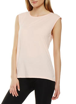 Split Mesh Back Activewear Top - 0058054269247