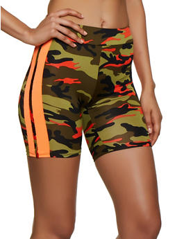 Camo Varsity Stripe Bike Shorts - 0058058750127
