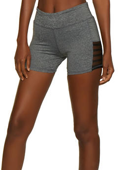 Mesh Insert Bike Shorts - 0058062703282
