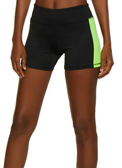 Color Block Bike Shorts - 0058062703283