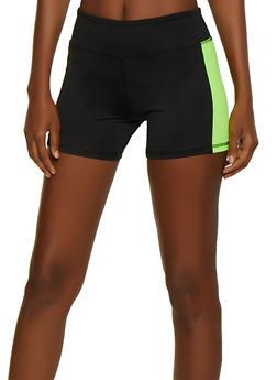 Color Block Bike Shorts - 0058062703283
