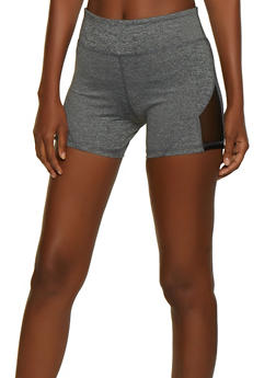 Mesh Insert Active Bike Shorts - 0058062703284