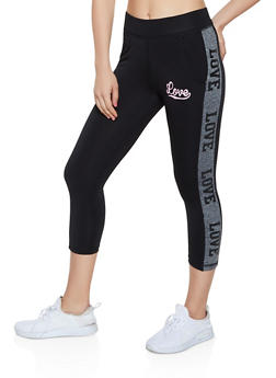 Cropped Love Active Leggings - 0058062707025