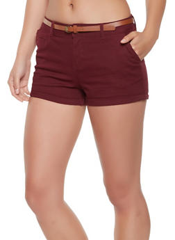 Belted Twill Shorts - 0060054264118